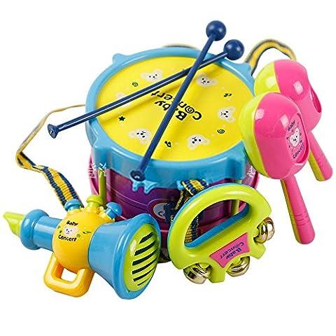 Yacool® Bébé garçon fille Drum Set Musical Instruments enfants Drum Set enfants jouet -1 coffret