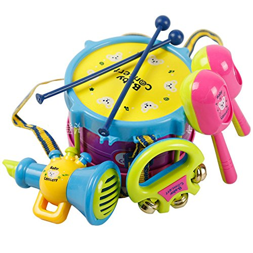 Yacool� 5PCS Baby Boy Girl Drum Set Musical Instruments Kids Drum Set Children Toy Gift -1 set
