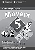 Cambridge Young Learners English Tests Movers 5 Answer Booklet: Examination Papers from the University of Cambridge ESOL Examinations