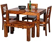 MAHIMART AND HANDICRAFTS Furniture World Sheesham Wooden Dining Table 4 Seater | Dining Table Set with 3 Chair