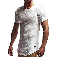 WWricotta Camisetas Hombre Manga Corta Color Puro Músculo Gimnasio Deporte Slim Fit Streetwear Camisas Casual Sudaderas