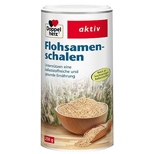 Doppelherz Flohsamenschalen/Ballaststoffreiche Nahrungsergänzung zur Unterstützung der Verdauung – geschmacksneutral/1 x 250 g