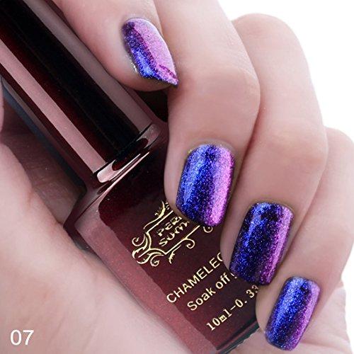 Perfect Summer 10ml Vernis à Ongles Caméléon Gel Semi Permanent UV LED Soak Off Nail Art Manucure 07