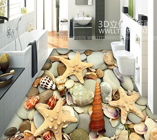 WXDD 3D-Version der Europäischen Abteilung der Baumwolle pad Verdickung Kinder Falten Matte Teppich Klettern Pad, 1,2 * 1,6 M, Kastanie Shell Starfish -