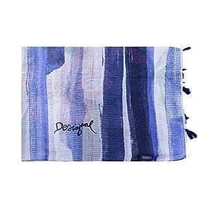 Desigual Foulard Equilibrium Azul Marino Mujer