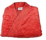 Trident Classic Crimson Pearl Large Unisex Bathrobe - Red