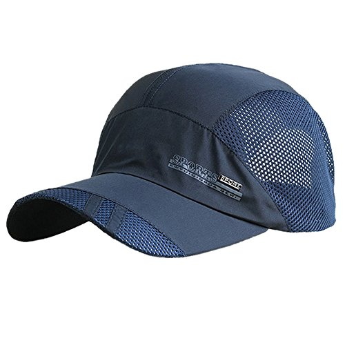 TOOGOO(R) Fashion Mens Summer Outdoor Sport Baseball Hat Running Visor cap Navy blue