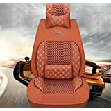 SHISHANG Cojín de coche Ice Tire Four Seasons Cushion Deluxe Edition (9 unidades) Car Universal Cuatro Estaciones Universal 3D Full Seat Cover 4 Colores Opciones , deluxe ice orange