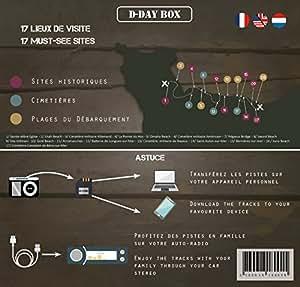 D-Day Box Audioguide plages du Débarquement (Utah, Omaha, Gold, Juno, Sword) - Inclus : 3h Audio + mp3 + eBook + criquet + Carte (modèle Drapeau Can)