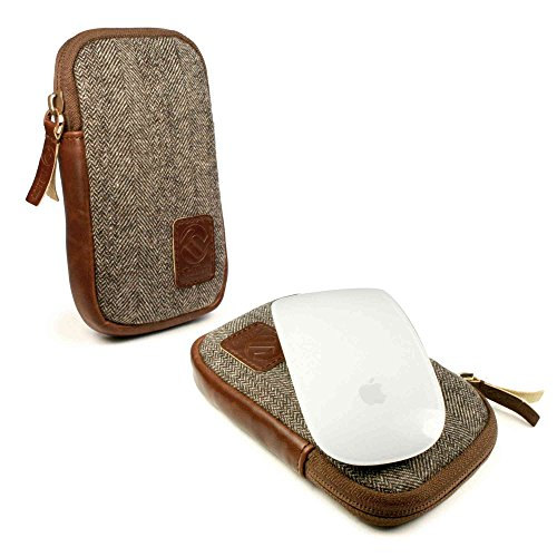 tuff-luv-herringbone-tweed-nfc-travel-case-for-apple-magic-mouse-brown