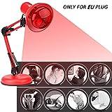 Infrarot-Wärmestrahler Infrarotlampe 220 V 100 Watt Infrarot Wärme Lampe Therapie Licht Einstellbarer Winkel,Therapeutische Schmerzlinderung Behandlung Gesundheit Lampe EU Stecker wohltuendes