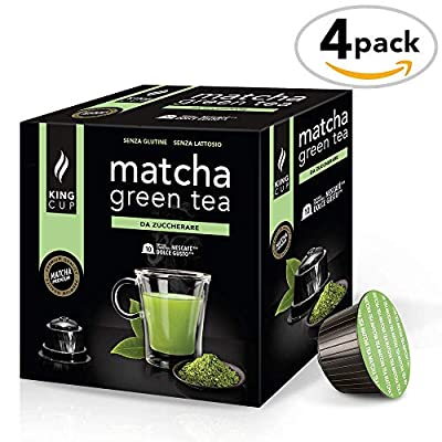 Thé Vert Matcha à sucrer - 4 boîtes de 10 Capsules Compatibles Nescafè*Dolce Gusto®* (40 capsules)