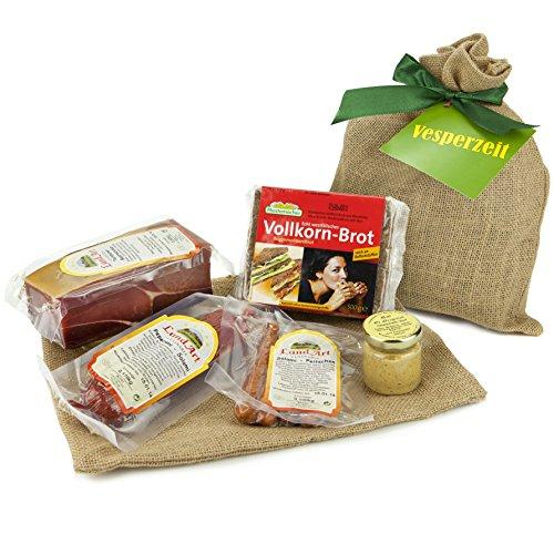 Das genussvolle Vesperzeit Geschenkset – Ein Jutesack gefüllt mit vielen Deutschen Spezialitäten