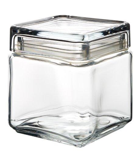 Dajar Glasbehälter mit Deckel Landmark 1 L Pasabahce, Glas, Transparent, cm, 10, 8 x 12, 4 cm (Box von 6) 4 X 12 Glas
