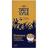 Tate & Lyle Fairtrade azúcar de caña sin refinar Demerara Rough Cut Sugar Cubes - 2 x 1kg