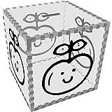Groß 'Glücklicher Apfel' Klar Sparbüchse / Spardose (MB00056214)