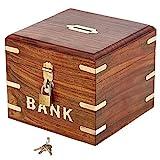 Handgemachte Indische Sparbüchse zum Münzensammeln - Für Kinder und Erwachsene - Urlaubssparbüchse aus Holz