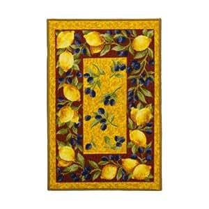 MonBeauTapis-Tapis Bio Line 040 x 060 1957–4049 Citrons-Olives et cm