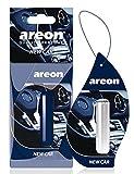 AREON Liquid Auto Duft New Car Neues Auto Lufterfrischer Neuwagen Parfüm Autoduft Blau Duftflakon Flakon Aufhängen Hängend Anhänger Spiegel 5ml 3D (Pack x 1)