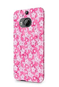 Cover Affair Floral / Flowers Printed Designer Slim Light Weight Back Cover Case for HTC One M9 Plus / HTC M9 Plus / HTC M9+ (Pink)