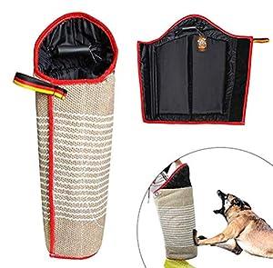 HEI SHOP Jute Dog Professional Jambes Manches avec poignée pour Chiot de Chien de Travail