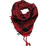 Craftshub Red Desert Arafat Scarf - Stylish Arafat desert scarf for both men and women