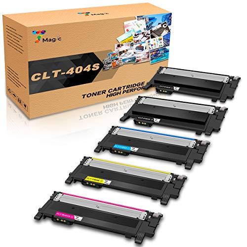 7Magic CLT-404 Toner Compatibile con Samsung CLT-P404C/ CLT-404S,CLT-K404S CLT-C404S CLT-M404S CLT-Y404S Compatibile con Samsung Xpress SL C430W C430 C480FW C480W C480FN C480W stampanti(2B/1C/1Y/1M)