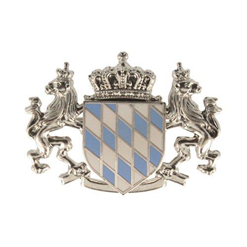Hutanstecker   Hutabzeichen   Hutschmuck   Anstecker - Bayrische Flagge - 3 x 4 cm