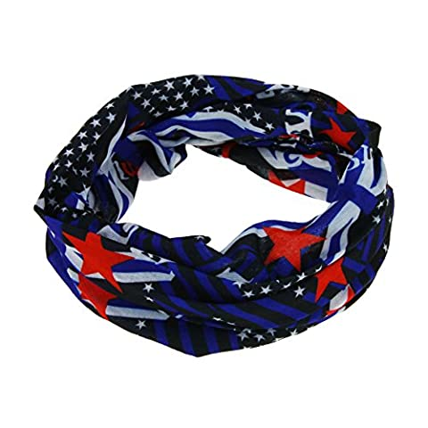 Multifunctional Outdoor Sports Magic Scarf Seamless Bandanna Tube 12 in 1 Headwear Headband Collars Muffler Neck Gaiter Mask Veil with UV Resistance for Riding, Cycling, Hiking, Fishing