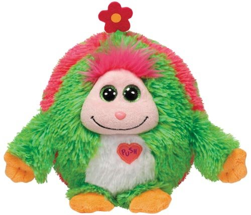 TY 7137925 - Daisy X-Large - Monster, Monstaz, 35 cm, grün mit Blume