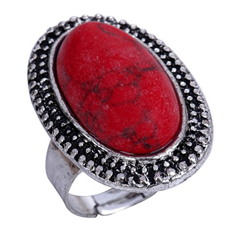 yazilind-jewelry-carved-red-rimous-oval-turquoise-tibetan-silver-striking-adjustable-ring