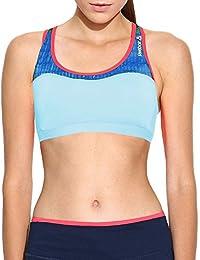 Reebok PlayIce - Sujetador deportivo Mujer - Running Gimnasio Fitness Sin mangas - Azul claro -