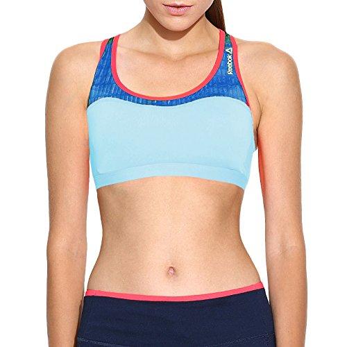 Reebok PlayIce - Sujetador deportivo Mujer - Running Gimnasio Fitness Sin mangas - Azul claro - XXS