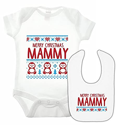 Parent Kid Costume Ideas - bullshirt de joyeux Noël Mamy Body et