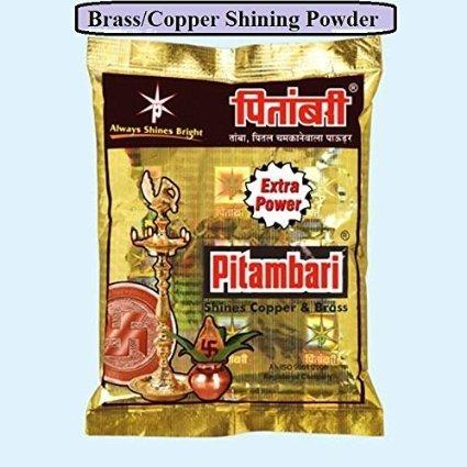 artcollectibles Inde Lot de 2 paquets de pitambari en laiton instantané Nettoyant pour nettoyage Diwali Idoles polonais Anti, au ternissement cuivre Ustensiles