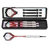 Soft Tip Freccette, 3pcs 2 Colori 153 Millimetri elettronico in Metallo Freccette Punte morbide Bersaglio Set dardo per Adulti(Rosso)