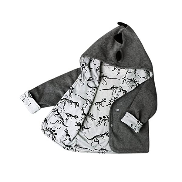 Baby Coats, Rcool Children Kids Boy Coat Jacket Warm Winter Hot Hooded Boy Dinosaur Clothes Outwear