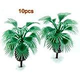 Palme alberi Modello - TOOGOO(R) 10 pz 2.2 pollici modello Bottiglia alberi palme disposizione del treno Scala 1/200