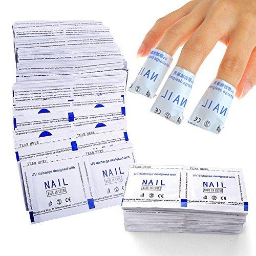 FairyGlo 100 Pièces Vernis à Ongle Remover Wraps Tampons Aide à Enlèvement Vernis UV ou Vernis Semi Permanent