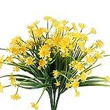 Nahuaa 4pcs Artificiale Daisy Giallo Artificiale Composizioni Floreali Decorazione Vasi di Primavera Bouquet FAI DA TE per Matrimoni Balconi Finestra