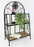 DanDiBo Regal Mosaik Merano 12006 Bücherregal 80 cm aus Metall Schmiedeeisen Badregal