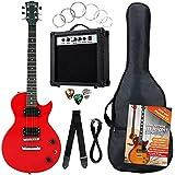 Rocktile Banger's Pack Single Cut guitarra electronica Set, 7-piezas rojo