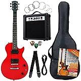 Rocktile Banger's SET chitarra elettrica rossa, 7 pezzi