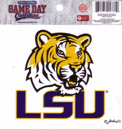 Game Day Outfitters NCAA LSU Fightin Tigers Klein Fenster Aufkleber/Aufkleber