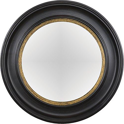 Artelore Home 0105092 Breda II - Espejo ovalado convexo acabado, color negro