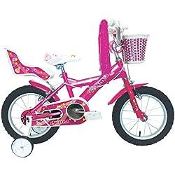 "Umit J1451 Bicicleta Infantil, Niñas, Rosa, 14"""