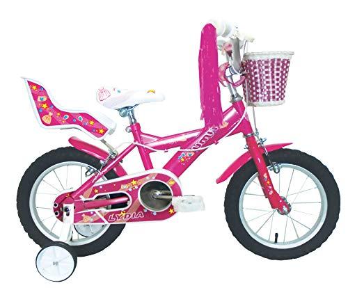 "Umit J1451 Bicicleta Infantil, Niñas, Rosa, 14\"""