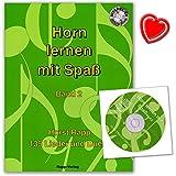 Horn lernen mit Spaß Band 2 von Horst Rapp - Serie ... lernen mit Spaß - 135 Liedern, Musikstücken, Duetten - mit CD und bunter herzförmiger Notenklammer