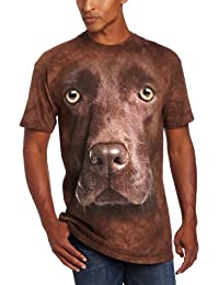 The Mountain Unisexe Adulte Tete Labrador Chocolat T Shirt