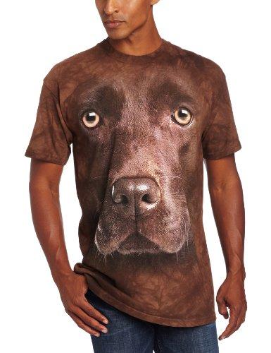 Mountain Unisex Erwachsen Chocolate Lab Face Hund T Shirt Braun